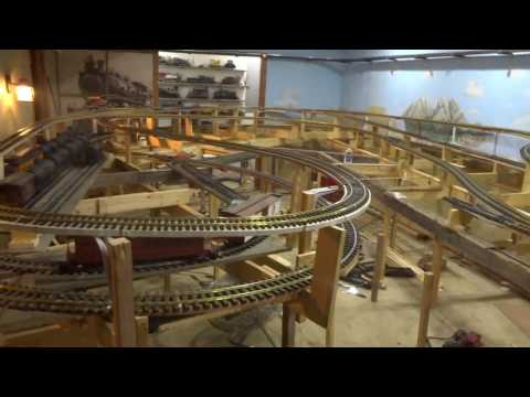 G Scale train layout