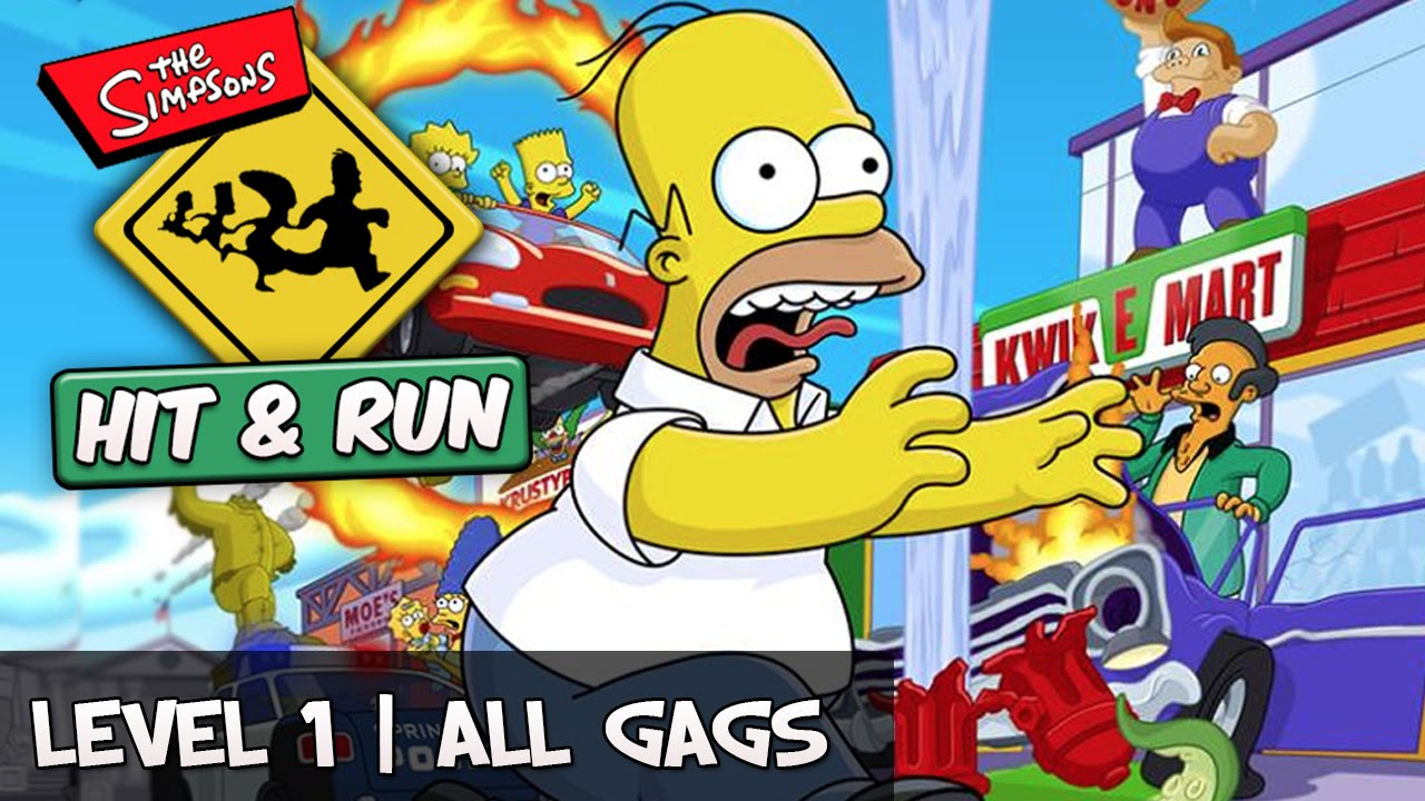 The Simpson And Run Level 1 All Gags Collectible Guide