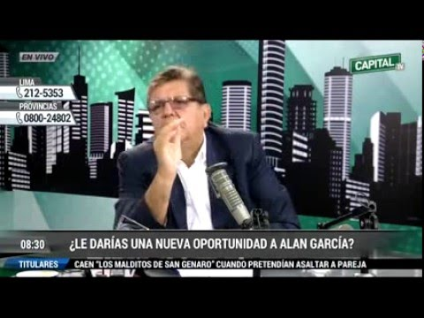 Entrevista a Alan Garcia por Phillip Butters en Radio Capital