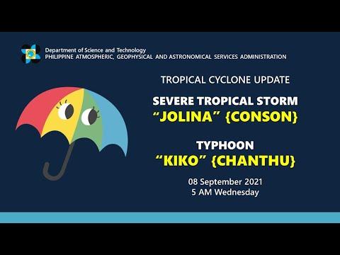 "Press Briefing: STS ""JOLINA"" {CONSON} U0026 TY ""KIKO"" {CHANTHU}   Wednesday,  5AM September 8, 2021"