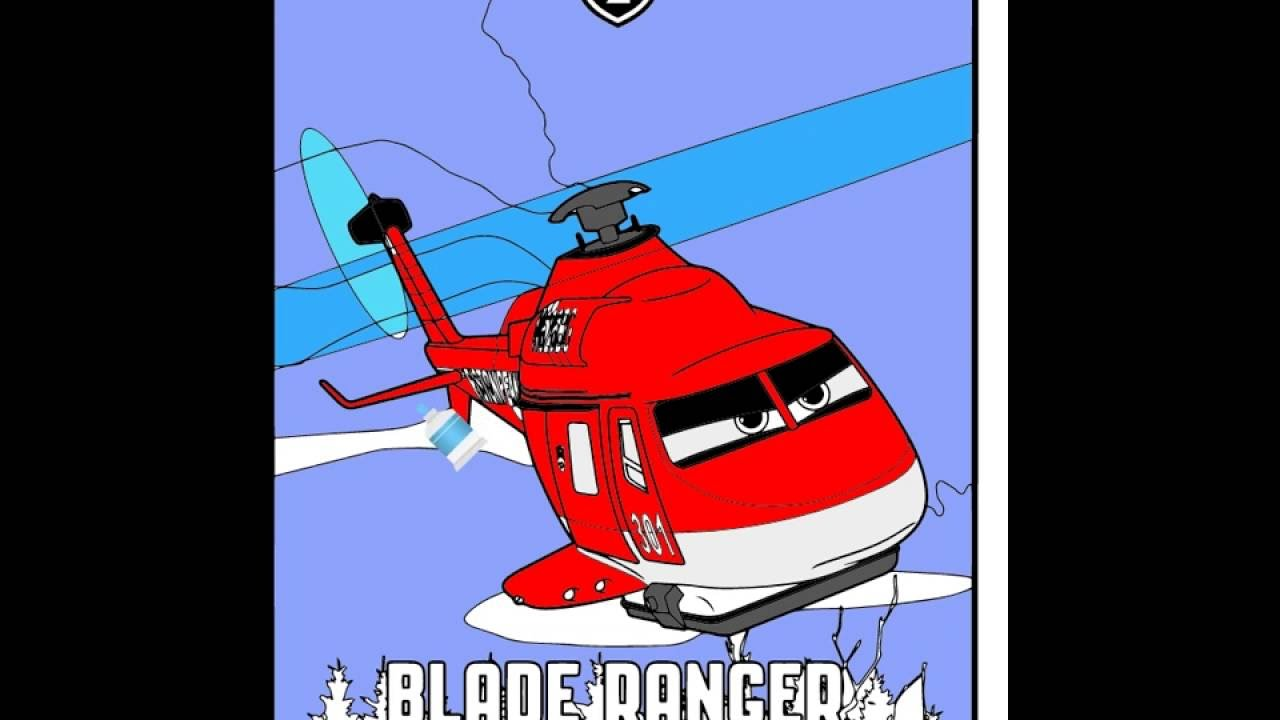 How to color Blade Ranger Coloring book Disney movie Planes Coloring ...