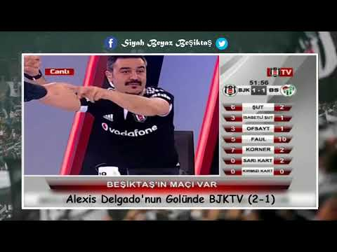 Alexis Delgado'nun Golünde BJKTV Beşiktaş 3 2 Bursaspor