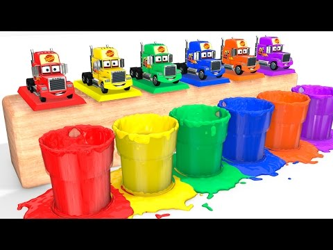 Thumbnail: LEARN COLORS with Mack Truck for Babies - Cars Educational Video - Bus Superheroes for Kids