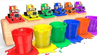 LEARN COLORS with Mack Truck for Babies - Cars Educational Video - Bus Superheroes for Kids thumbnail