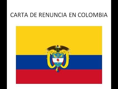 Carta De Renuncia En Colombia By Modelo Carta Com