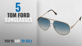 Top 10 Tom Ford Sunglasses [2018]: Tom Ford TF 450 Cliff 28P Rose Gold Metal Aviator Sunglasses