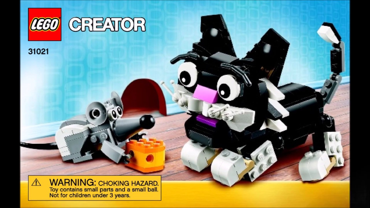 Lego Creator Cat And Mouse 31021 3 In 1 Instructions Diy Book 1