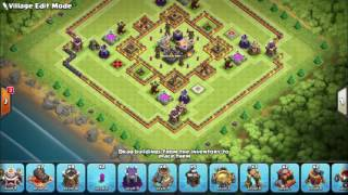 NEW TH11 HYBRID BASE 2016 WITH 2 BOMB TOWER October Update 2016 || Clash Of Clans