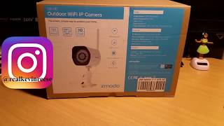 Zmodo 720p HD WiFi security camrea unboxing/install/review