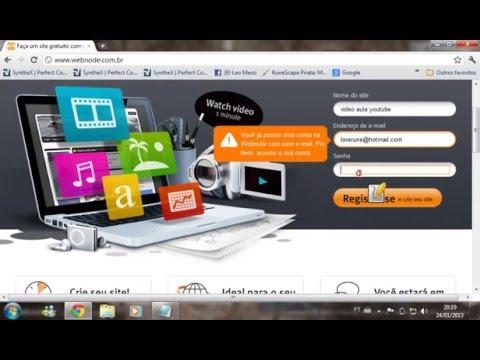 Como Criar Um Site Gratis - 2013