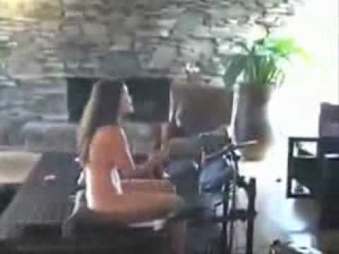 Naked mom playing rock band