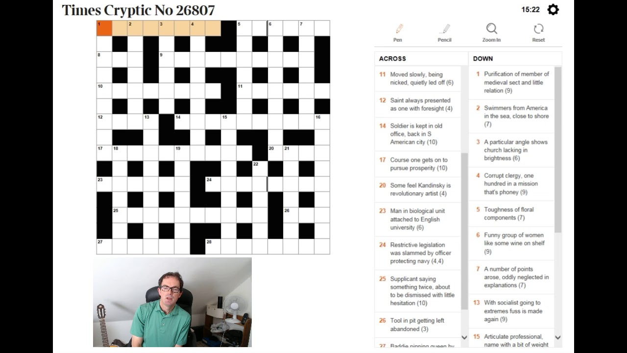 Crossword Blog Cracking The Cryptics In Real Time On Youtube Crosswords The Guardian