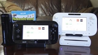 Wii U Deluxe (Black) vs Basic (White) Set Unboxing & Comparison