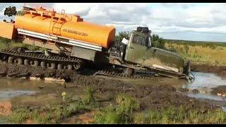Вездеход УРАЛ по БЕЗДОРОЖЬЮ севера России  Russian monster mud compilation