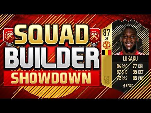 FIFA 18 SQUAD BUILDER SHOWDOWN!!! INFORM LUKAKU!!! IF Romelu Lukaku Squad Builder Duel