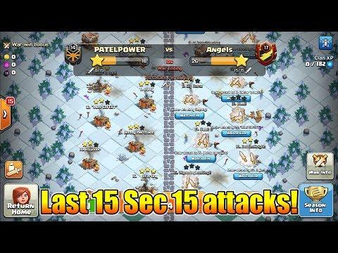 World's First Trojan War In Clan War League | 15 Attacks In Last 15 Sec | Clash Of Clans