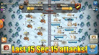 World's First Trojan War In Clan War League | 15 Attacks In Last 15 Sec | Clash Of Clans