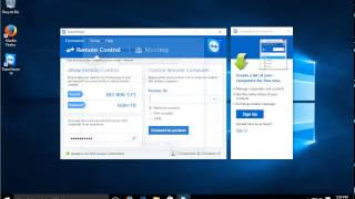 Gambar cover Windows 10 - Remote Control and Remote Access with FREE TeamViewer Software - Remote Desktop