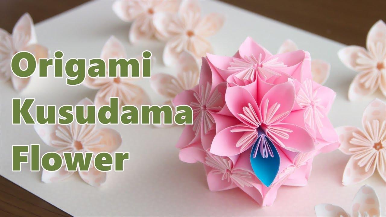 折り紙 基本の花くす玉 Origami Kusudama Flower Youtube