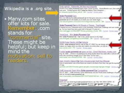 Evaluating Web Sites Tutorial