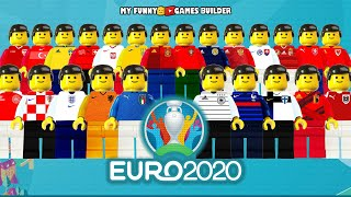 EURO 2020 Preview UEFA Euro 2020 All 24 Teams in Lego Football Film Animation