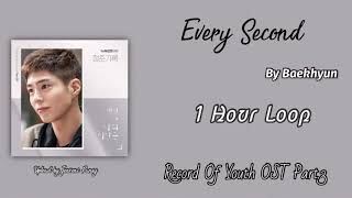 Download Mp3  1 Hour /1시   Every Second  나의 시간은  | Baekhyun  백현   | Record Of Youth Ost Part.