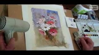 How to paint flowers in watercolor - Painting Lessons 1