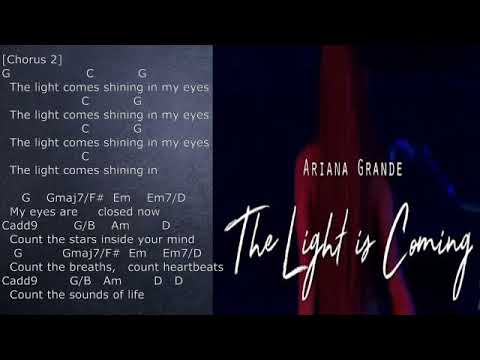 Ariana Grande The Light Is Coming Chords And Lyrics Piano And Guitar