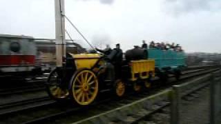 ヨーク国立鉄道博物館のSL展示運転 Stephenson's Rocket