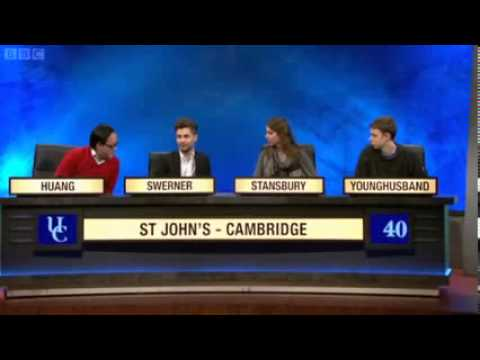 University Challenge   S43E02   St  John's, Cambridge vs Reading