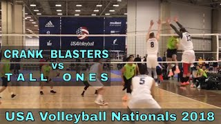 Crank Blasters vs Tall Ones (Day 3, Match 7) - USAV Nationals 2018 Volleyball Tournament