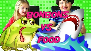 GUMMY FOOD vs REAL FOOD Challenge - Vraie Nourriture VS Bonbons