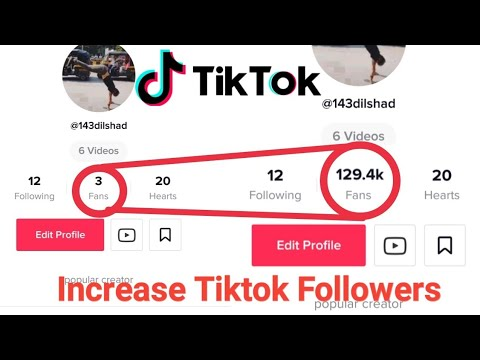 How To Increase Tiktok fans | Get tiktok followers | Tik tok per ...
