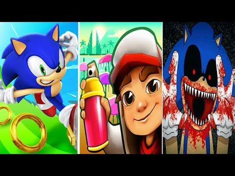 Sonic Dash vs Subway Surfers vs SONIC EXE Reborn BOSS FIGHT