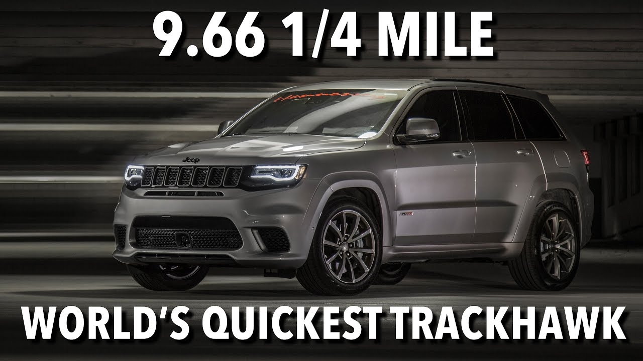 9 66 145 Mph Jeep Trackhawk World Record 1 4 Mile Run Youtube