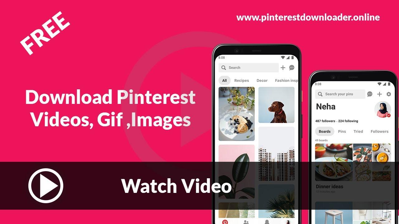 Pinterest Video Downloader   Download Pinterest Video Online & Gif ...