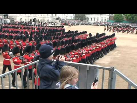 Trooping the colour practice, May 28th 2011, March past in quick time.avi