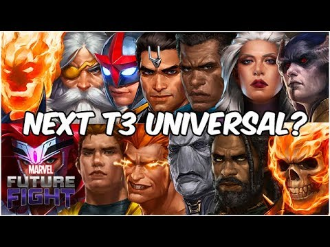 MANY AMAZING UNIVERSALS! BEST PICK FOR NEXT TIER 3?! - Marvel Future Fight