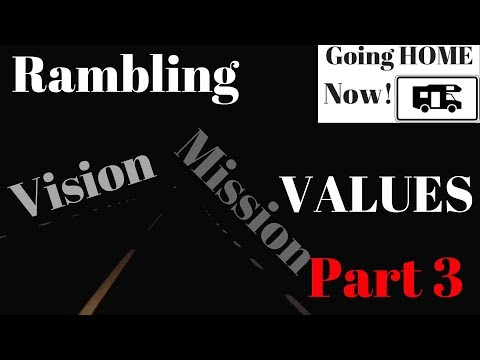 Rambling VISION, MISSION and VALUES to process my thoughts on MY life purpose  Part 3