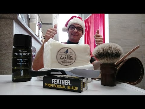 Feather Artist DX Kamisori - Feather Pro.- Essentia mogano cubano - Mondial Barberia - Kanebo Eroica