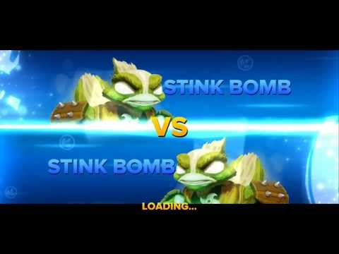 SKYLANDERS SWAP FORCE STINK BOMB VS STINK BOMB