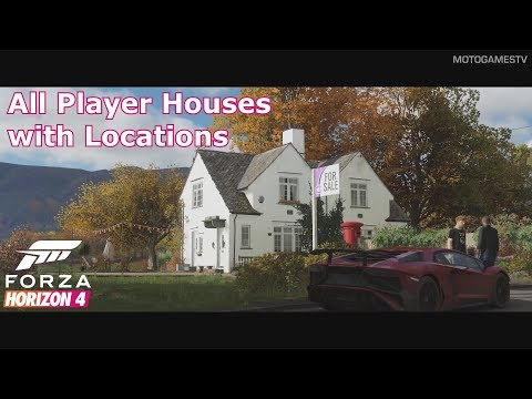 Forza Horizon 4 - All Player Houses with Locations