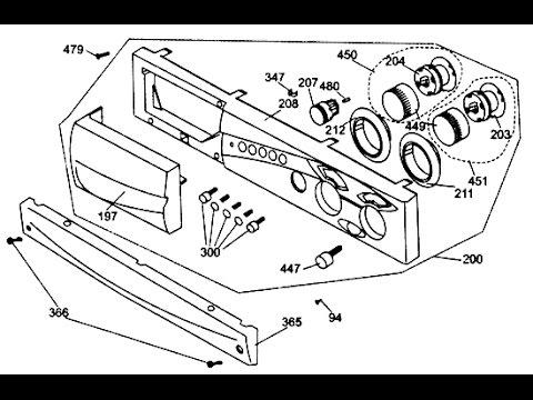Как снять переднюю панель стиральной Beko. Видео №38