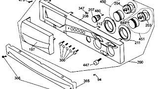 Як зняти передню панель пральної Beko. Відео №38