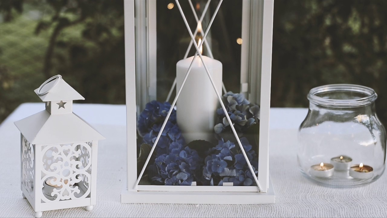 Portacandele Da Giardino : Allestimenti con lanterne portacandela da esterno youtube