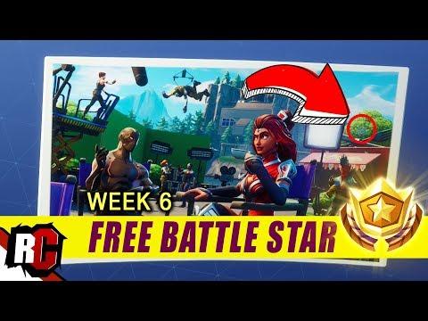 Secret Battle Star Location WEEK 6   Fortnite Battle Royal (Blockbuster Challenge Loading Screen)