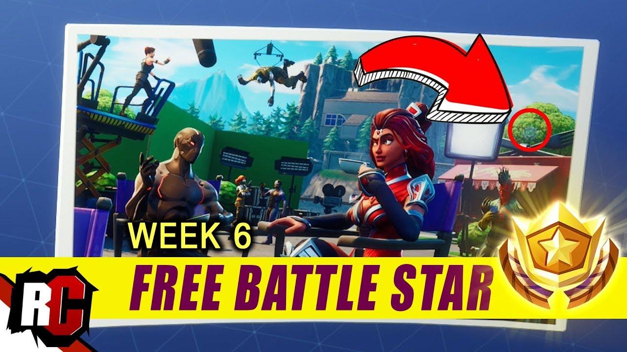 Secret Battle Star Location Week 6 Fortnite Battle Royal