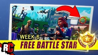 Secret Battle Star Location WEEK 6 | Fortnite Battle Royal (Blockbuster Challenge Loading Screen)