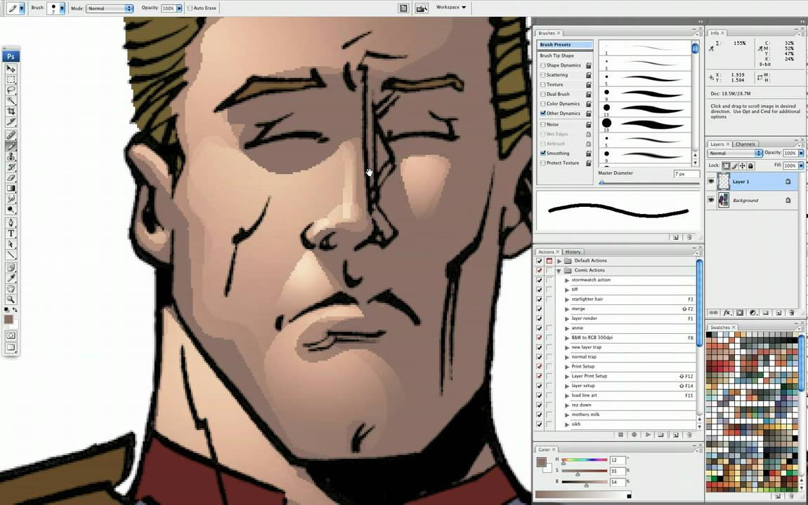 Comic Book Coloring Tutorial: Cuts and Gradients part 1 - YouTube