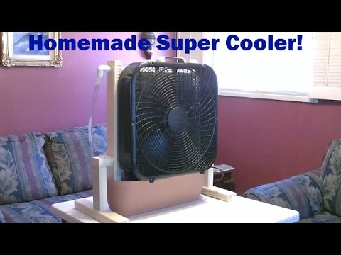 homemade evaporative cooler whole room super cooler up to 30f drop easy diy youtube. Black Bedroom Furniture Sets. Home Design Ideas